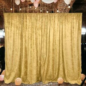 Gold sequin backdrop