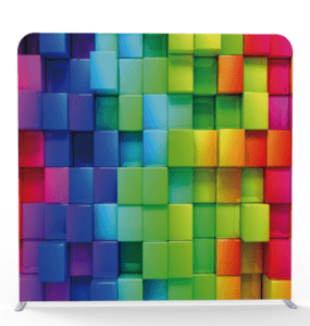 multicolor 3d blocks backdrop