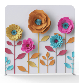 Multi color flowers 3d backdrop