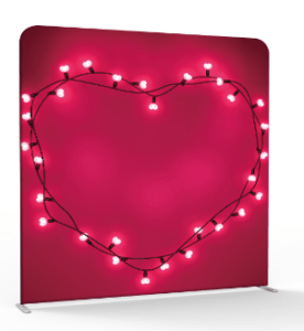 Heart in lights 3d backdrop