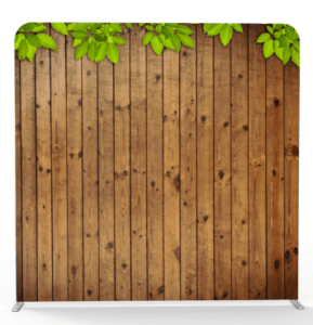 rustic wood tension backdrop