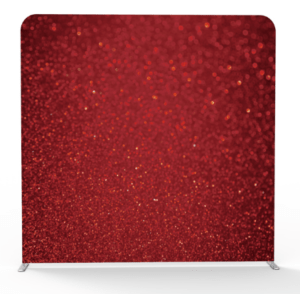 red glitter 3d backdrop